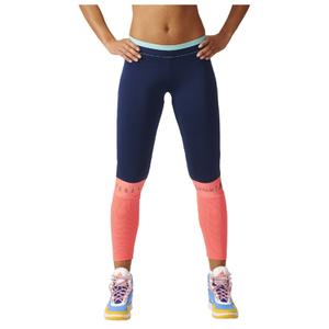 adidas Women's Stella Sport Long Mesh Training Tights - Blue/Pink