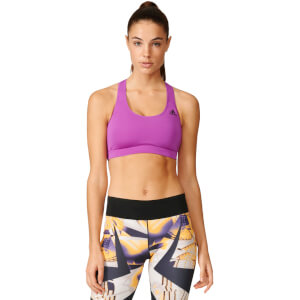 adidas Women's 3-Stripes Training Racer Back Bra - Purple