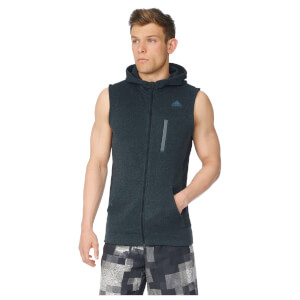 adidas Men's Ultimate Full Zip Running Vest - Black