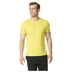 adidas Men's Sequencials Climalite Running T-Shirt - Yellow