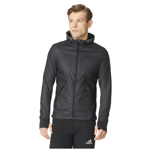 adidas Men's Pure Amp Running Jacket - Black