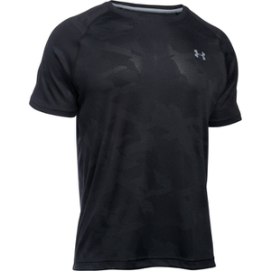 Under Armour Men's Jacquard Tech Short Sleeve T-Shirt - Black/Stealth Grey
