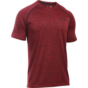 Under Armour Men's Tech Short Sleeve T-Shirt - Red/Black