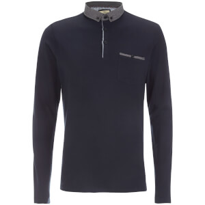 Brave Soul Men's Hera Long Sleeve Polo Shirt - Navy