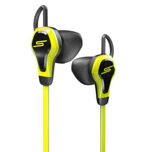 SMS Biosport Water Resistant Smart Earbuds with Heart Monitor - Yellow