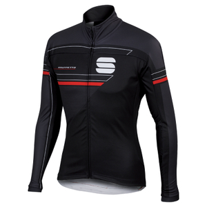 Sportful Gruppetto Partial Windstopper Jacket - Black/Grey