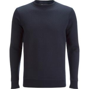 Dissident Men's Claredale Quilted Sweatshirt - True Navy