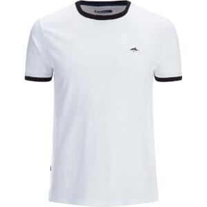 Le Shark Men's Davenant Ringer Crew Neck T-Shirt - White
