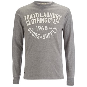 Tokyo Laundry Men's Point Hendrick Long Sleeve Top - Mid Grey Marl