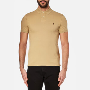 Polo Ralph Lauren Men's Slim Fit Short Sleeved Polo Shirt - Luxury Tan