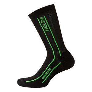 Nalini Compression Socks - Black/Fluro Yellow