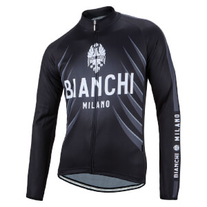 Bianchi Passirio Long Sleeve Jersey - Black/Green