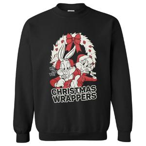 Warner Brothers Men's Bugs Bunny Weihnachts-Sweatshirt – Schwarz