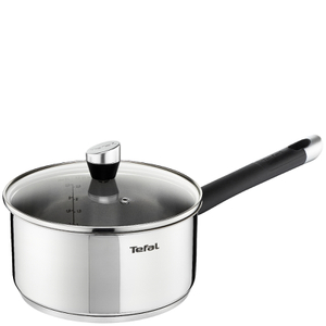 Tefal E8232444 Emotion Stainless Steel 20cm Saucepan with Glass Lid