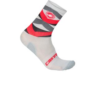 Castelli Fatto 12 Cycling Socks - Red/Grey