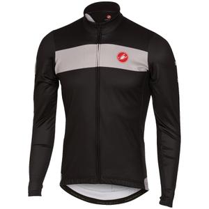Castelli Raddoppia Long Sleeve Jersey - Black/Grey