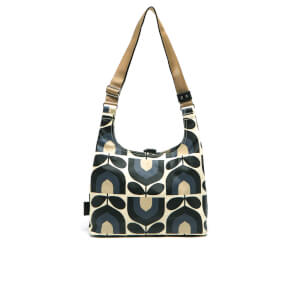 Orla Kiely Women's Matt Laminated Stripe Tulip Print Midi Sling Bag - Dusk