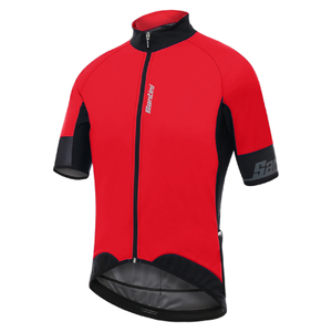 Santini Beta 2.0 Short Sleeve Wind Jersey - Red