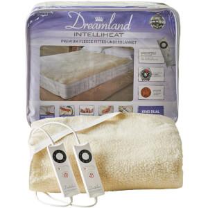 Dreamland Sleepwell Intelliheat Soft Fleece Fitted Electric Under Blanket - Cream - King Dual