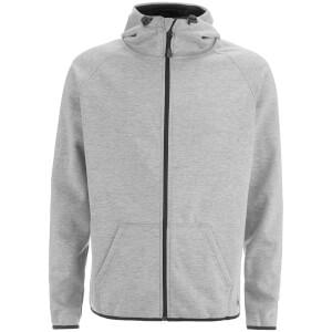 Dissident Men's Cowley Zip Through Bonded Fleece Hoody - Light Grey Marl