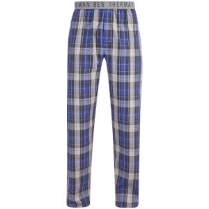 Ben Sherman Men's Check Jake Lounge Pants - Grey/Blue