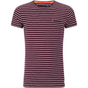 Superdry Men's Lite Loomed Cut Curl Stripe T-Shirt - Fig
