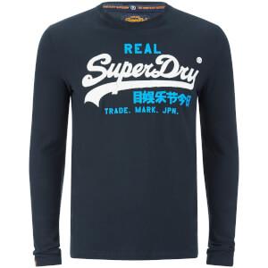 Superdry Men's Vintage Logo Duo Long Sleeve T-Shirt - Eclipse Navy