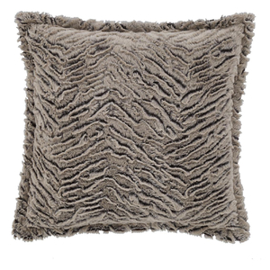 Catherine Lansfield Wolf Faux Fur Cushion (43cm x 43cm) - Neutral