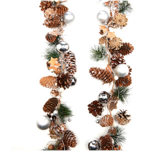 Bark & Blossom Cones/Baubles Garland - Multi
