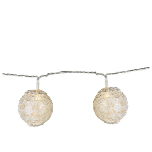 Parlane Lace Globe Garland Lights - White (Set of 10)