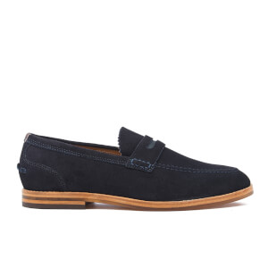 H Shoes by Hudson Men's Romney Suede Loafers - Navy
