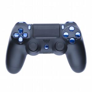 Playstation 4 Custom Controller - Matte Black & Chrome Blue