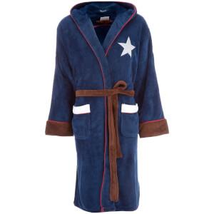 Marvel Men's Captain America: Civil War Outfit Robe - Navy