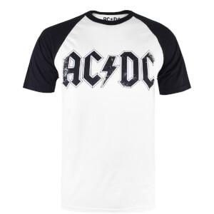 ACDC Men's Logo Raglan Logo T-Shirt - White/Black