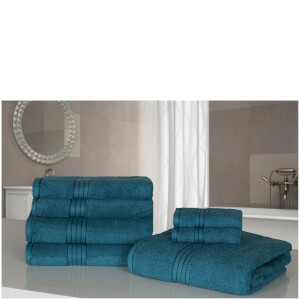 Highams 100% Egyptian Cotton 7 Piece Towel Bale - Lime Green