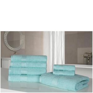 Highams 100% Egyptian Cotton 7 Piece Towel Bale - Teal
