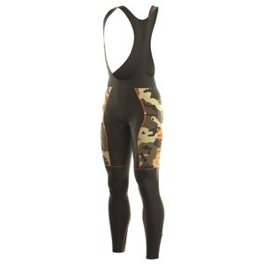 Alé PRR Roubaix Camo Bib Shorts - Black/Orange