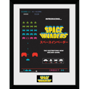 Space Invaders Adverts Framed Photographic - 16