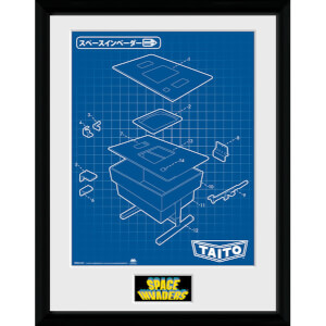 Space Invaders Table Framed Photographic - 16