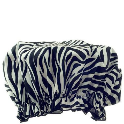 Bonnet de douche eco-friendly Hydrea London - Zèbre