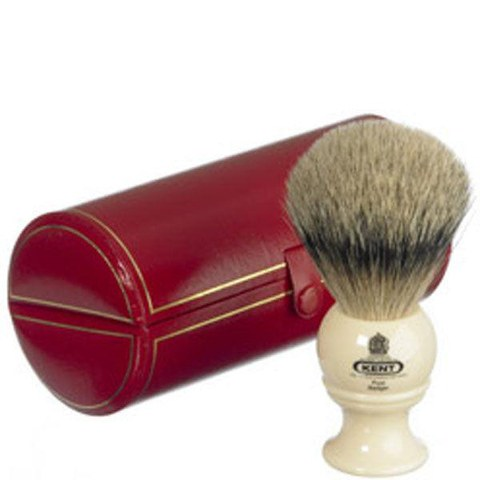Kent Bk2 Traditional Pure Grey Badger Shaving Brush - Medium