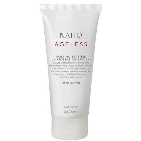 Crema hidratante con protección UV FPS30+ Nation Ageless (75g)