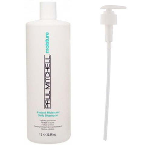Paul Mitchell Instant Moisture Daily Shampoo (1000ml) with Pump (Bundle)