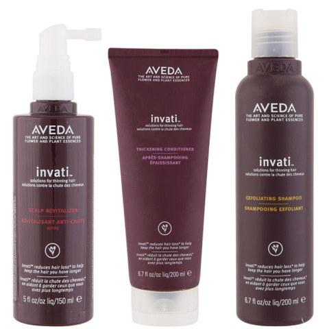 Trío Aveda Invati - champú, acondicionador y crema cuero cabelludo