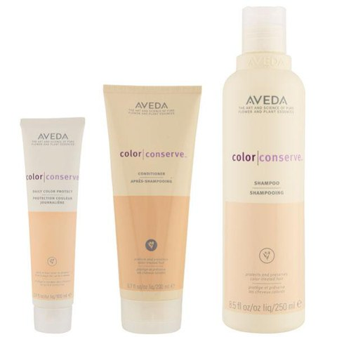Aveda Farberhaltendes Haarpflege Trio- Colour Conserve Shampoo, Conditioner & Daily Colour Protect