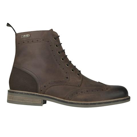 Barbour Men's Belsay Derby Brogue Boots - Dark Tan