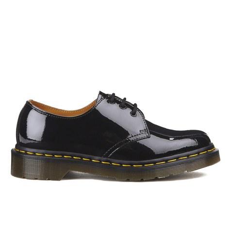 Dr. Martens Women's Core 1461 3-Eye Patent Lamper Shoes - Black
