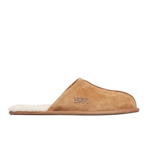 UGG Men's Scuff Leather Sheepskin Slippers - Chestnut