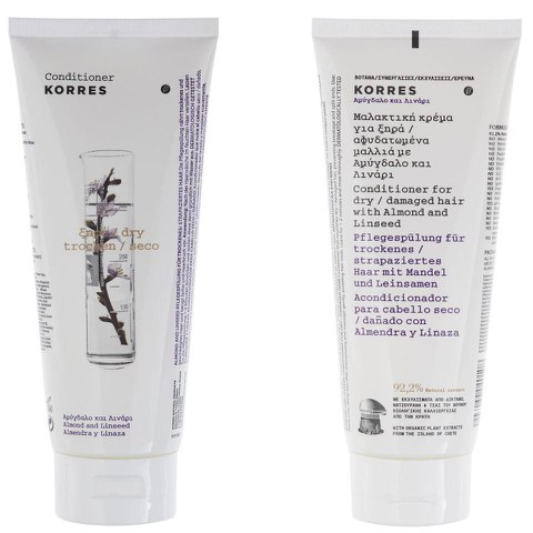 Korres Conditioner Almond and Linseed For Dry/Damaged Hair (200ml)