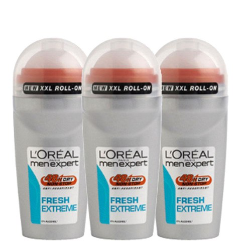 L'Oreal Paris Men Expert Fresh Extreme Deodorant Roll-On (50ml) Trio